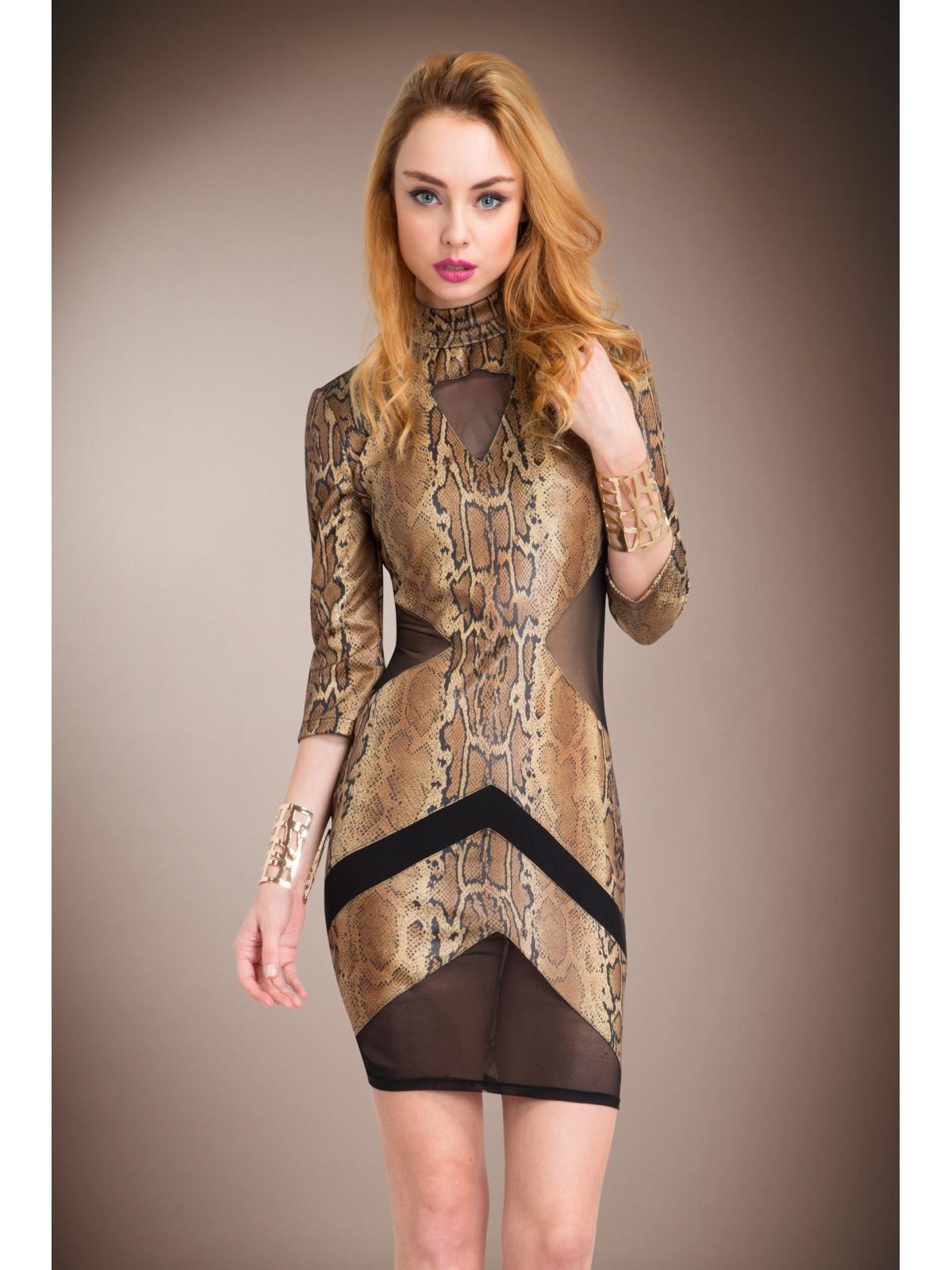 Brown Snake Dress