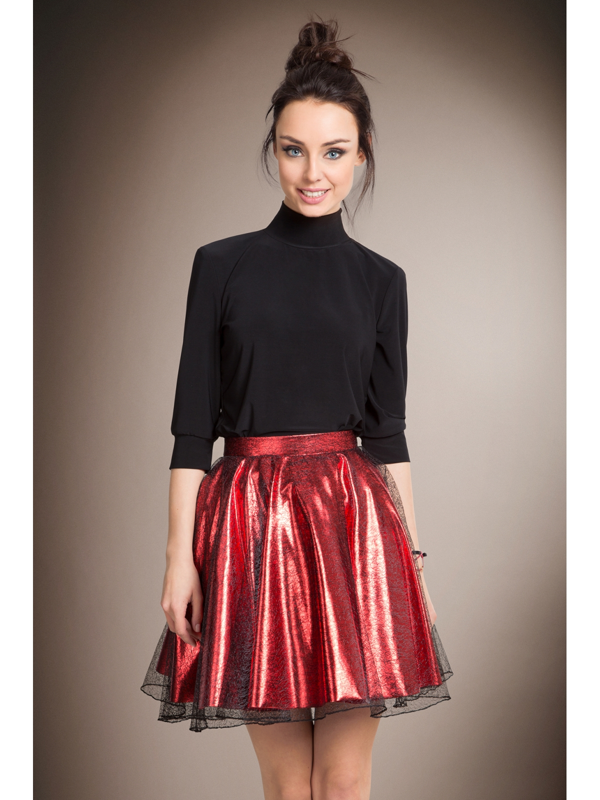 Red Shiny Skirt