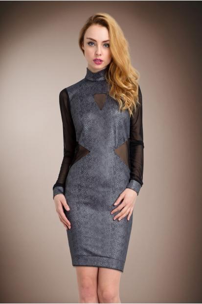 Grey Snake Dress