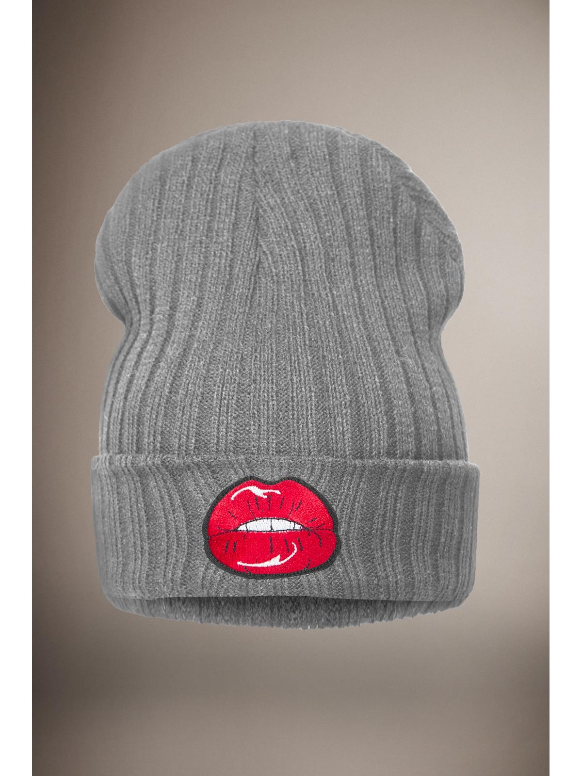 Grey Lips Beanie