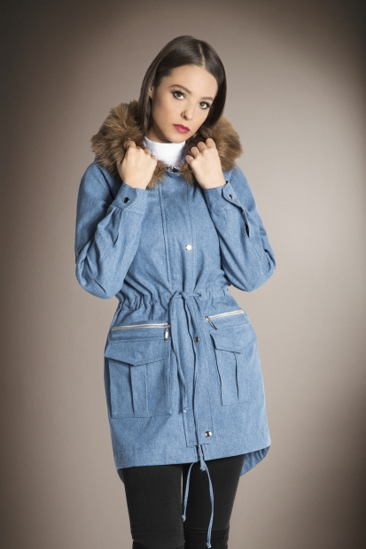 Light Blue Parka
