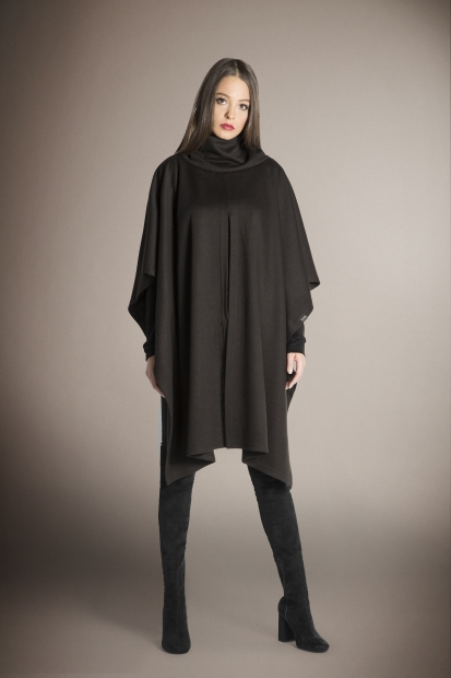 Brown Asymmetric Poncho