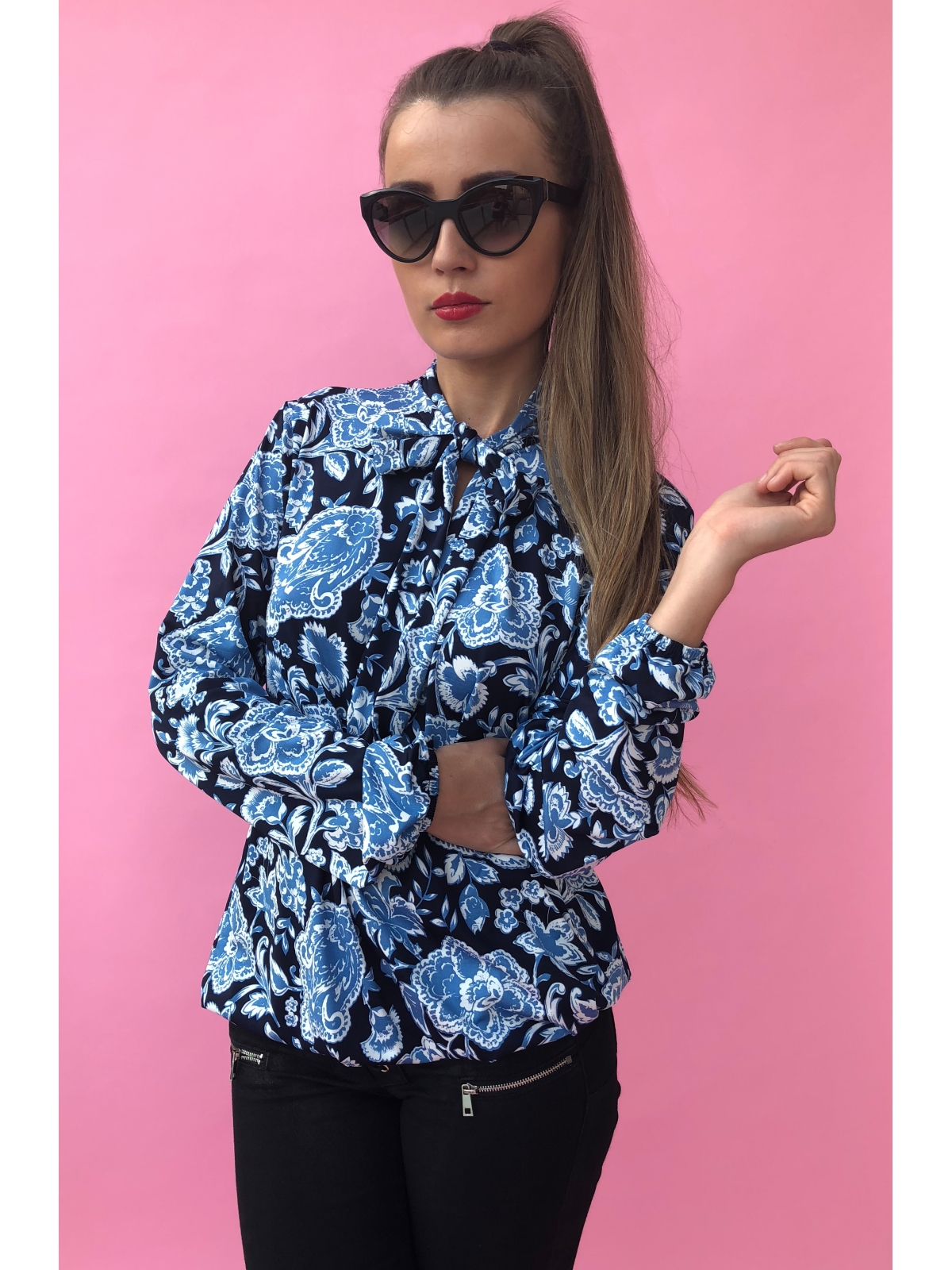 Blue Bloom Blouse